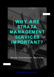 Why Are Strata Management Services Important