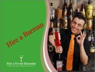 Hire a Professional Barman for Your Private Party