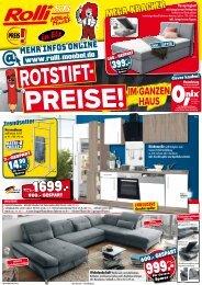 Rotstift-Preise im ganzen Haus! Rolli-SB Möbelmarkt, 65604 Elz