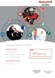 Training Schedule - Honeywell Life Safety Austria and