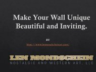 Make Your Wall Unique Beautiful and Inviting
