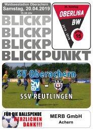 SV Oberachern Blickpunkt - Heimspiel SSV Reutlingen