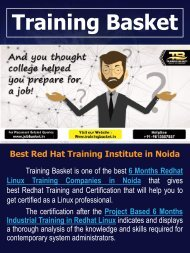 Red Hat Training in Noida | Red Hat Certification in Noida | Training Basket