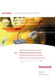 NEW! - Honeywell Life Safety Austria and Eastern Europe