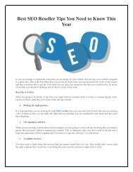 Best SEO Reseller Tips You Need to Know This Year
