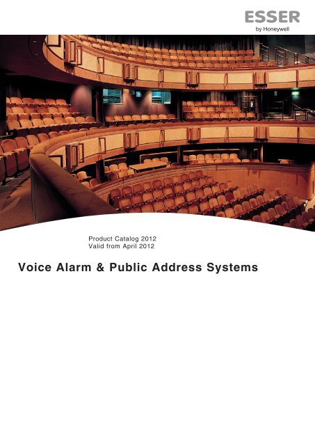 Voice Alarm & Public Address Systems - Honeywell Life Safety ...