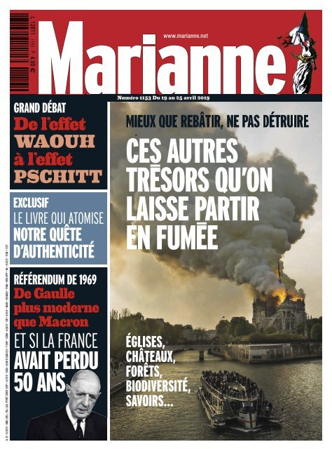 Marianne: Dossier sur Notre Dame de Paris