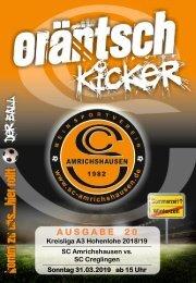 Ausgabe 20 / SCA - SC Creglingen