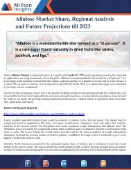 Allulose Market Share, Regional Analysis and Future Projections till 2023