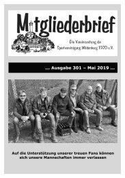 Ausgabe 301 - Mai 2019
