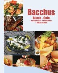 Bacchus Restaurant Cafe Menu