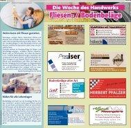 Woche des Handwerks: Fliesen- und Bodenbeläge