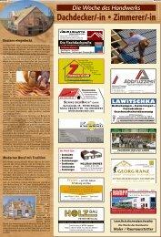 Woche des Handwerks: Dachdecker und Zimmerer