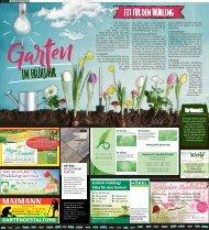 Garten im Frühjahr Kaufbeuren / Buchloe