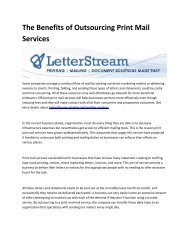 5 LetterStream print and mail services