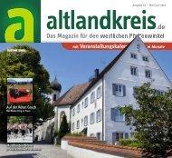 Altlandkreis Ausgabe Mai/Juni 2019 - Das Magazin für den westlichen Pfaffenwinkel