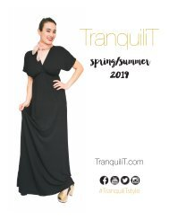 TranquiliT Lookbook  - Spring/Summer 2019