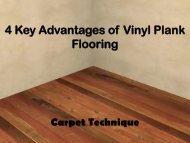 4 Key Advantages of Vinyl Plank Flooring