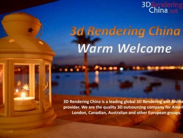 3d rendering china and best 3d architectural renders