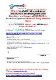 [2019-April-Version]New AZ-100 Dumps with PDF and VCE 145Q Free Share(Q48-Q55)