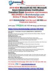 [2019-April-Version]New AZ-102 VCE and AZ-102 PDF Dumps Free Share(Q66-Q75)