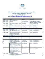 NRS Diabetes Conference Agenda 17 May 2019