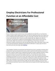 5 Temecula Electricians