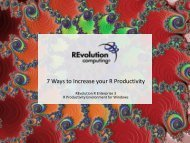 With the R Productivity Environment - Revolution Analytics