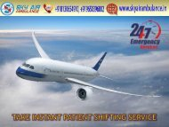 Avail Most Popular Charter Aircraft in Siliguri by Sky Air Ambulance