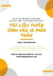 Tài liệu tuyển sinh vào 10 Môn Toán (20.04.2019)