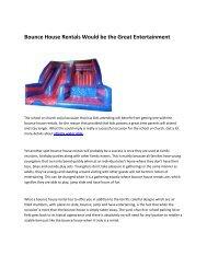 5 bounce house rentals Atlanta