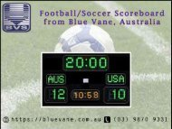 Football-Soccer Scoreboard at an affordable price from Blue Vane