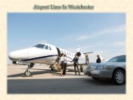 Westchester Airport Limo Service