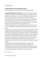Mehrere Medaillen bei Special Olympics Schweiz ... - Lebenshilfe