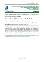 Seasonal and annual variation of aquatic beetles abundance in different wetlands of Manipur