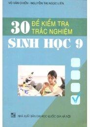 30 đề kiểm tra trắc nghiệm Sinh học 9