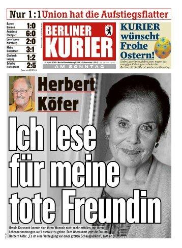 Berliner Kurier 21.04.2019