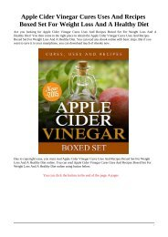 Apple Cider Vinegar Cures, Uses and Recipes For Weight Loss and a Healthy Diet pdf