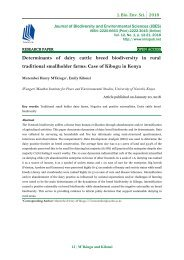 Determinants of dairy cattle breed biodiversity in rural traditional smallholder farms: Case of Kibugu in Kenya-JBES