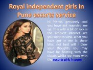 Royal Independent Girls In Pune Escorts Services www sapnarawat co in