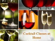 Cocktail Classes at Home – Hireaprivatebartender.co.uk