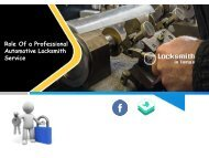Role Of a Professional Automotive Locksmith Service