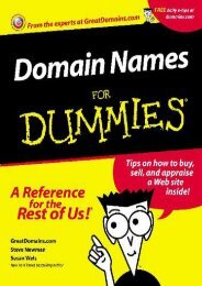 [PDF] DOWNLOAD Domain Names for Dummies