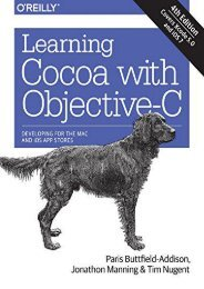 [DOWNLOAD] PDF  Learning Cocoa with Objective-C: Developing for the Mac and iOS App Stores