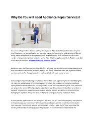 5 Kenmore appliance repair los angeles