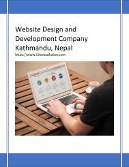 Website Design and Development Company Kathmandu, Nepal