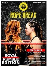 Rope Break Magazine Issue 1: Royal Rumble Edition
