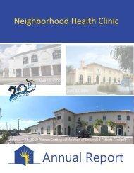2018 Annual Report Neighborhood Health Clinic