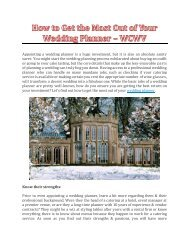 How to Get the Most Out of Your Wedding Planner? - WCWV