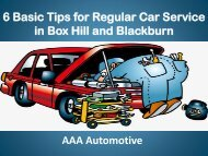 6 Basic Tips for Regular Car Service in Box Hill and Blackburn